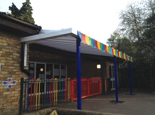 Devonshire Primary School Nursery Wall Mounted Canopy