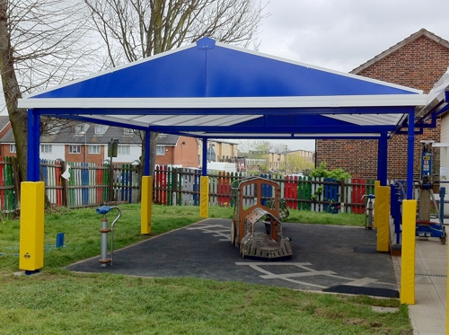 Community Vision Nursery & Community Vision Nursery Free Standing Canopies - Able Canopies