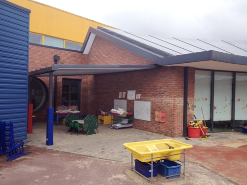 Christ Church Ce Primary School Wall Mounted Canopy