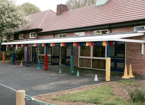 Roe Farm Primary School Derby Wall Mounted Canopy