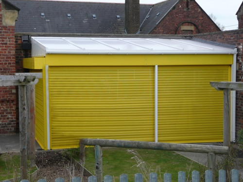 Willington Primary School Wall Mounted Canopy Amp Secure