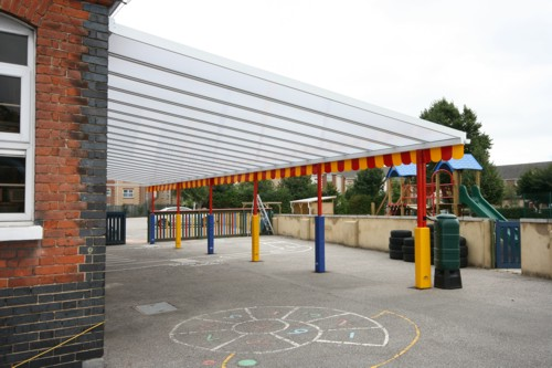 Chadwell Primary School Wall Mounted Canopy Able