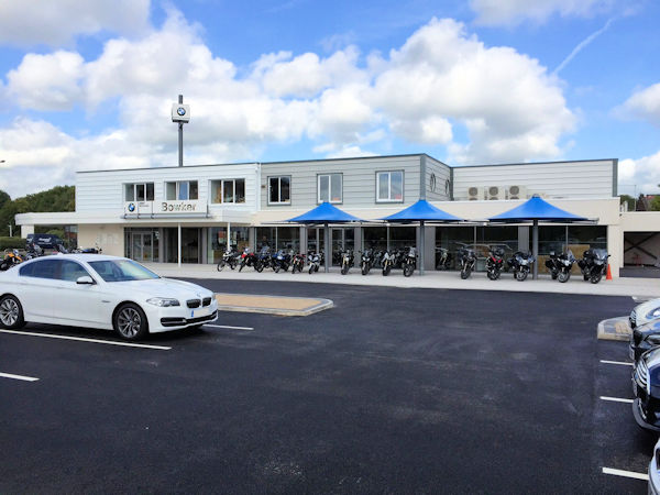 Bowker Motor Group Permanent Umbrella Canopies Able