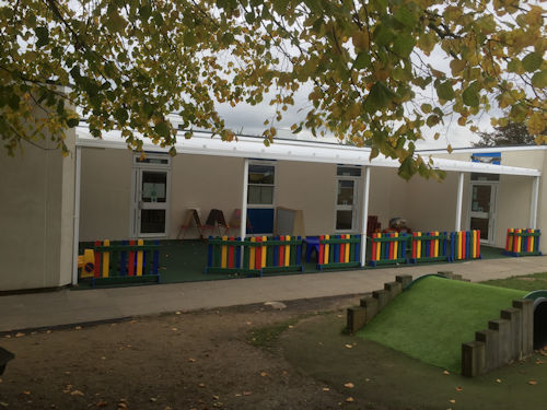 Cann Hall Primary School Wall Mounted Canopies Able