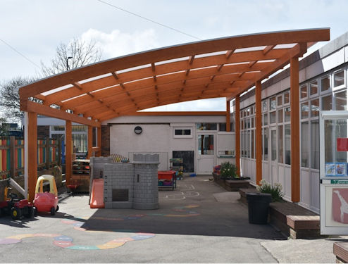 St Andrew S C Of E Primary School Timber Canopy Able