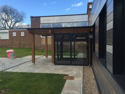The Oaks Primary School Bespoke Timber Canopy Able