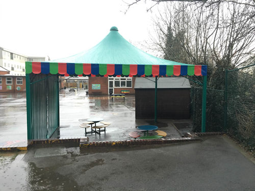 Slade Primary School Fabric Structure Able Canopies Ltd