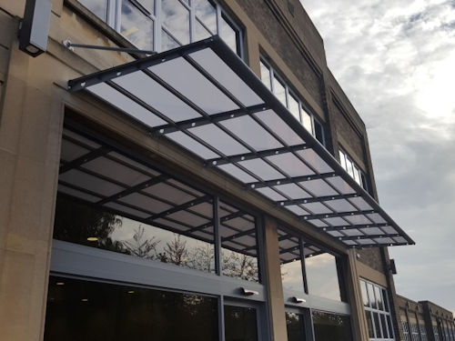 Perkins Engines Company Ltd, Entrance Canopy - Able Canopies Ltd
