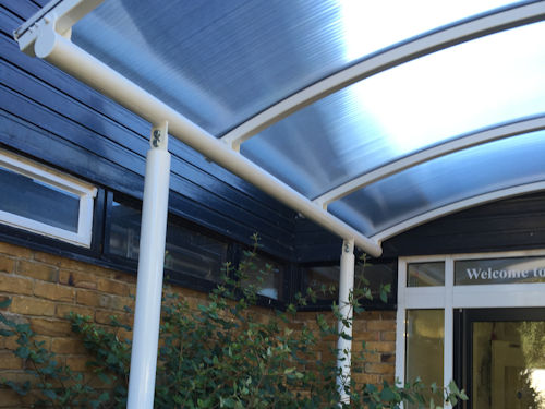 Howard Middle School Entrance Canopy Able Canopies Ltd