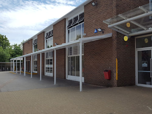 Alexandra Park School Wall Mounted Canopy Able Canopies Ltd