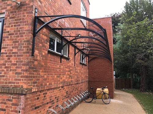 Guildford High School Wall Mounted Canopy Able Canopies Ltd