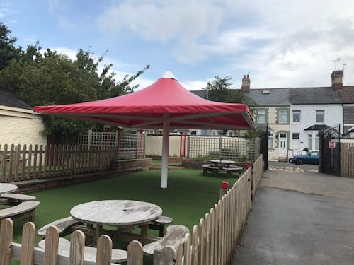 Holton Road Primary School Tensile Fabric Structure