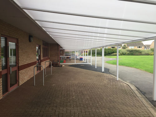 Kings Meadow Primary School Wall Mounted Canopy Able