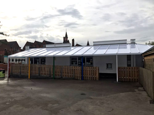 Ark Tindal Primary Academy Wall Mounted Canopy Able
