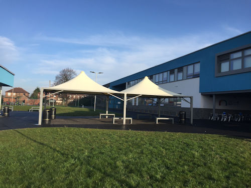 Beamont Collegiate Academy Tensile Canopies Able