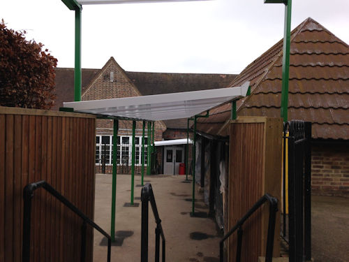 Braintcroft Primary School Wall Mounted Canopies Able