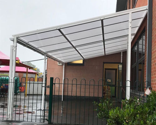 Chilcote Primary School Wall Mounted Canopy