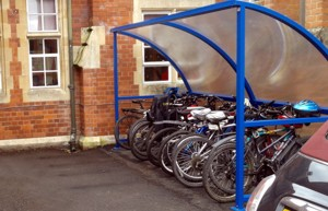 Bicycle Shelter installed at Hanley Castle High School in Worcestershire