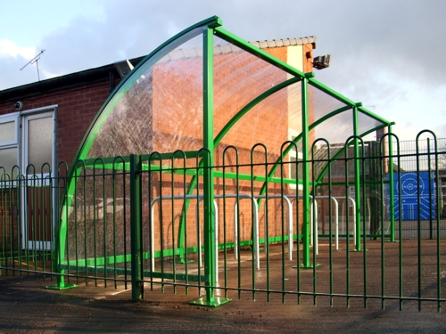 The Easydale Cycle Shelter installed at Woodslee Primary School in Merseyside