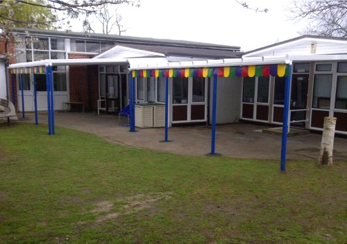 Cherry Tree Primary School Wall Mounted Canopy Able