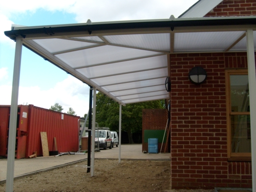 Shalford Primary School Braintree Wall Mounted Canopy