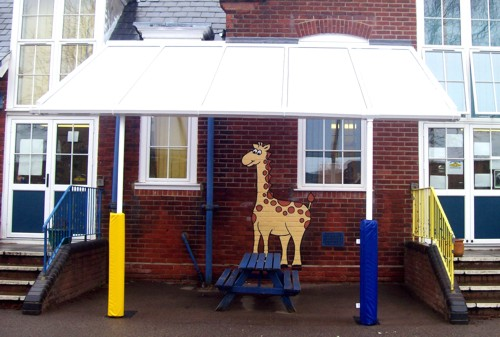 Sholing Infant School Hampshire Wall Mounted Canopy