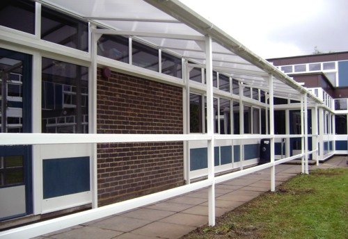 Applemore College Southampton Wall Mounted Canopy