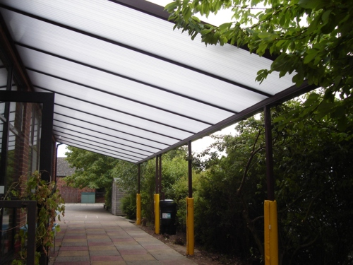 Burham C Of E Primary School Wall Mounted Canopy Able