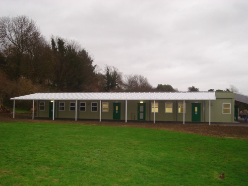 Foxwood Primary School Wall Mounted Canopy Able Canopies