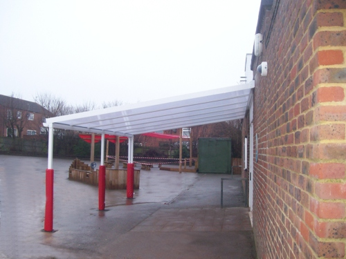 Singlewell Primary School Wall Mounted Canopy Able