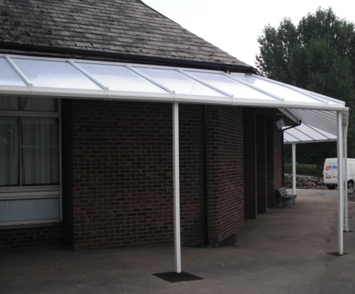 Mill Hill County High School Wall Mounted Canopy London