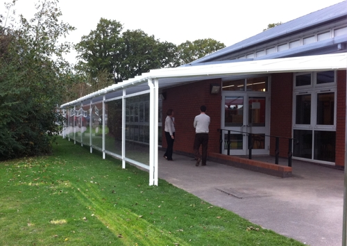 Swanwick Hall School Wall Mounted Canopy Derbyshire