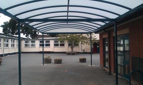 Willand School Free Standing Canopy Devon Able Canopies