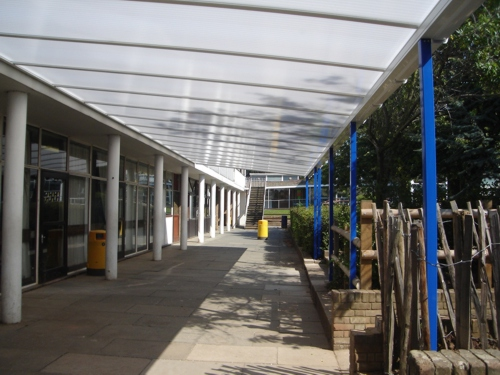 Mark Hall School Wall Mounted Canopy Harlow