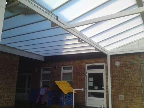 Milestone School Free Standing And Wall Mounted Canopy