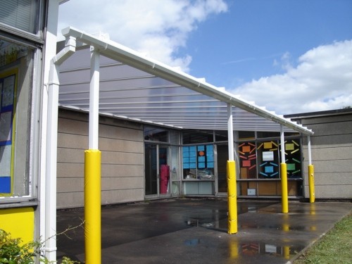 Hobbs Hill Wood Primary School Wall Mounted Canopy