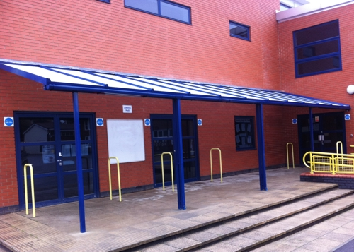 Fleecefield Primary School Wall Mounted Canopy Enfield