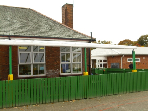 Woodslee Primary School Wirral Wall Mounted Canopy