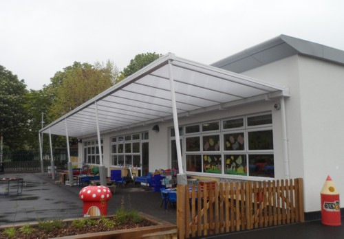 Gordonbrock Primary School London Wall Mounted Canopy