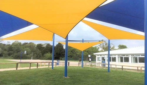 St Benedicts College Shade Sail Array Able Canopies Ltd