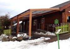 Bowes Pre-School - Timber Wall Mounted Canopy