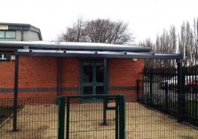 Bullcroft Memorial Hall - Wall Mounted Canopy