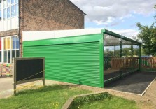 Acres Hill Community Primary School - Wall Mounted Canopy