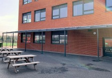 Chertsey High School - Wall Mounted Canopy