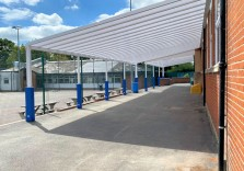 St Thomas More RC School - Wall Mounted Canopy