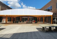 Manor Longbridge Infant School - Wall Mounted Canopy