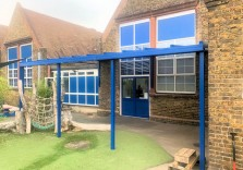 Milton Court Primary School - Wall Mounted Canopy