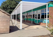 The Oaks Infant School - Wall Mounted Canopy