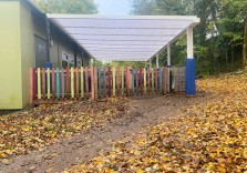 Stepping Stone Pre School - Wall Mounted Canopy
