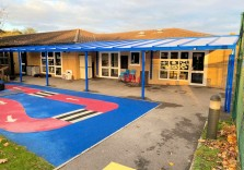 Liden Primary School - Wall Mounted Canopy